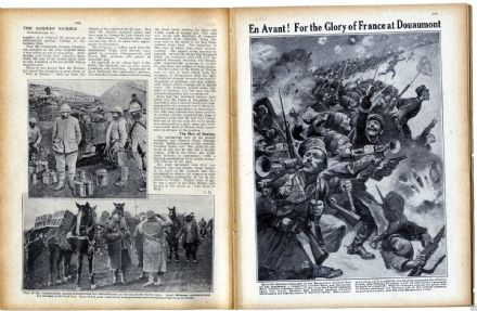 1916 WW1 Magazine BATTLE OF VERDUN Douaumont CAPTAIN RUSSELL ROBERTS (3800)